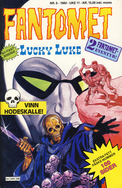 Cover for Fantomet (Semic, 1976 series) #6/1989