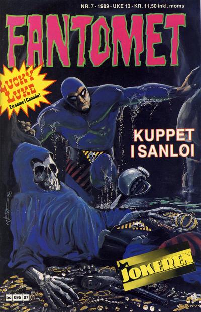 Cover for Fantomet (Semic, 1976 series) #7/1989