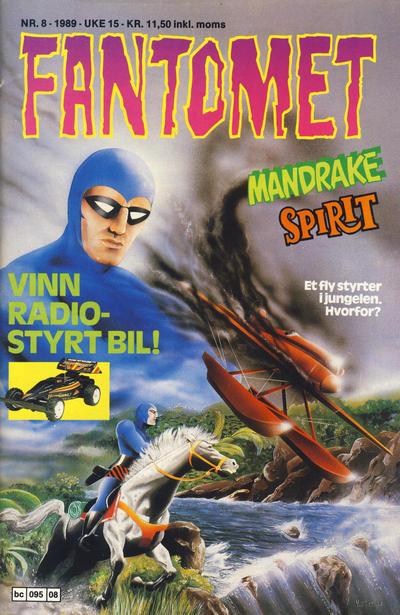 Cover for Fantomet (Semic, 1976 series) #8/1989
