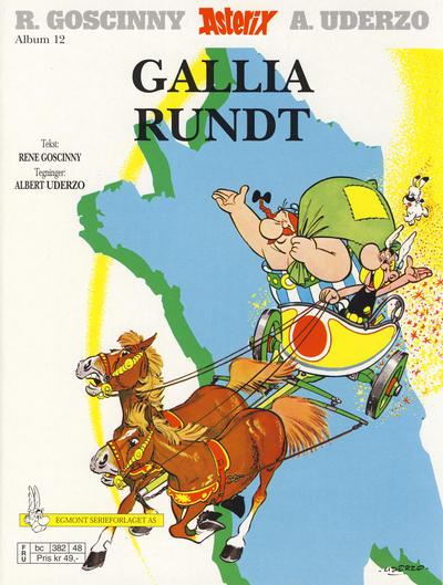 Cover for Asterix (Hjemmet / Egmont, 1969 series) #12 - Gallia rundt [4. opplag]