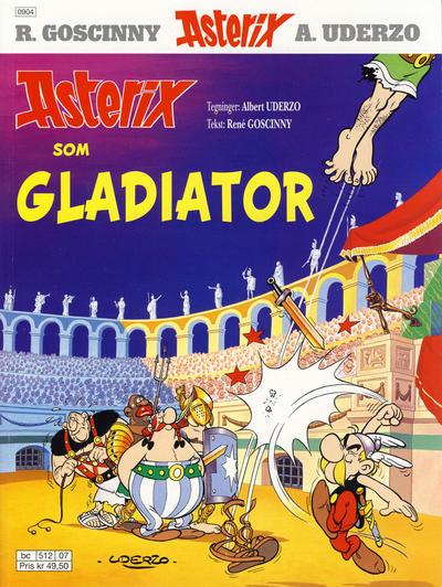 Cover for Asterix (Hjemmet / Egmont, 1969 series) #11 - Asterix som gladiator [9. opplag [8. opplag] Reutsendelse 382 48]