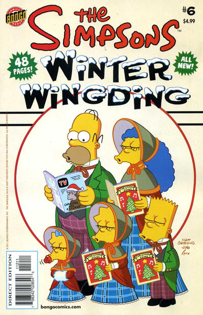 Cover for The Simpsons Winter Wingding (Bongo, 2006 series) #6