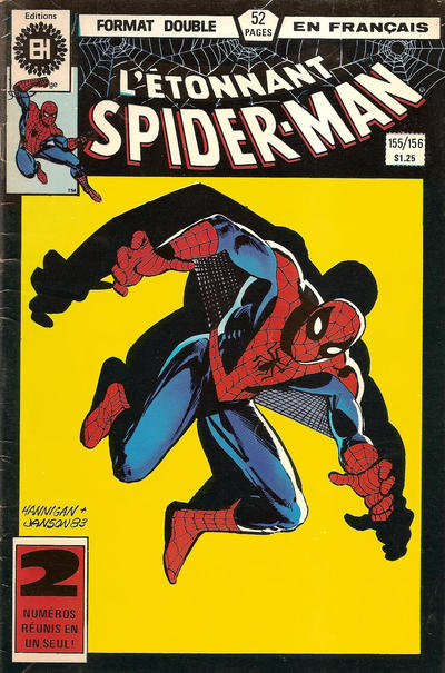 Cover for L'Étonnant Spider-Man (Editions Héritage, 1969 series) #155/156
