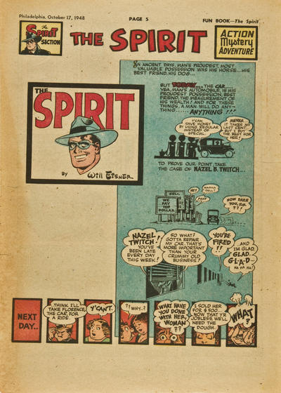 Cover for The Spirit (Register and Tribune Syndicate, 1940 series) #10/17/1948