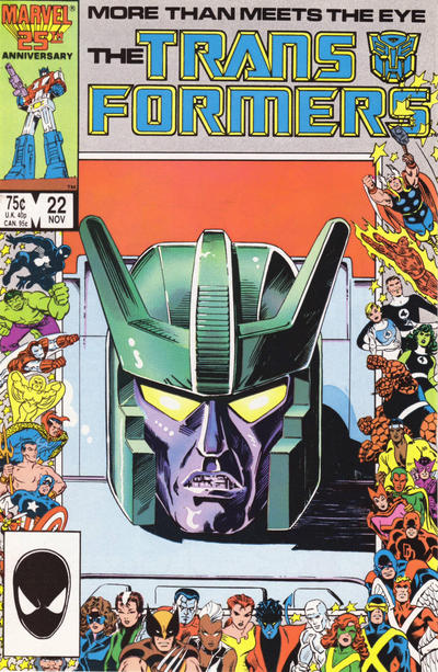 Cover for The Transformers (Marvel, 1984 series) #22 [Newsstand]