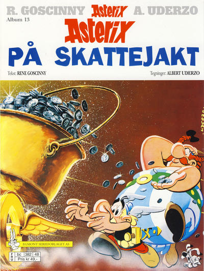 Cover for Asterix (Hjemmet / Egmont, 1969 series) #13 - Asterix på skattejakt [6. opplag]