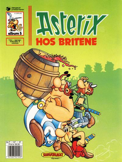 Cover for Asterix (Hjemmet / Egmont, 1969 series) #5 - Asterix hos britene [10. opplag]