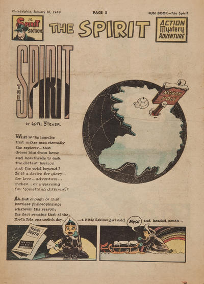 Cover for The Spirit (Register and Tribune Syndicate, 1940 series) #1/16/1949