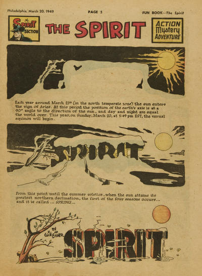 Cover for The Spirit (Register and Tribune Syndicate, 1940 series) #3/20/1949