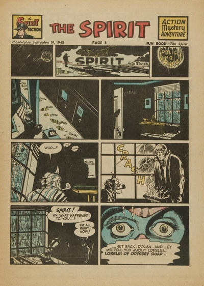 Cover for The Spirit (Register and Tribune Syndicate, 1940 series) #9/19/1948
