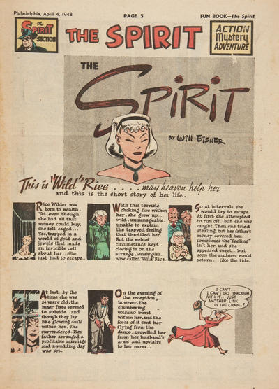 Cover for The Spirit (Register and Tribune Syndicate, 1940 series) #4/4/1948