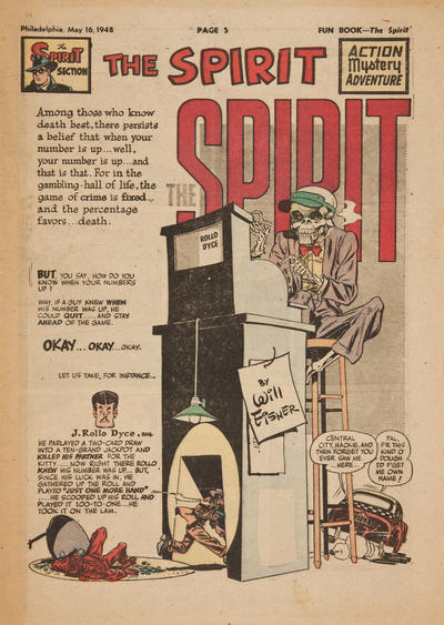 Cover for The Spirit (Register and Tribune Syndicate, 1940 series) #5/16/1948
