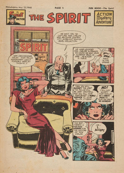 Cover for The Spirit (Register and Tribune Syndicate, 1940 series) #5/23/1948