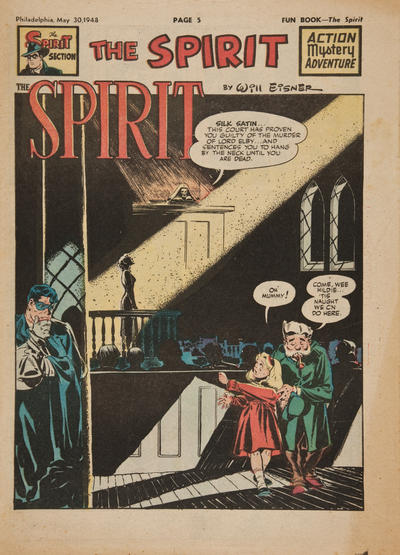 Cover for The Spirit (Register and Tribune Syndicate, 1940 series) #5/30/1948