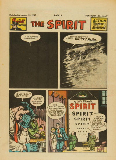 Cover for The Spirit (Register and Tribune Syndicate, 1940 series) #8/31/1947