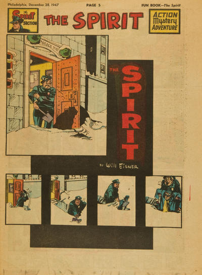 Cover for The Spirit (Register and Tribune Syndicate, 1940 series) #12/28/1947