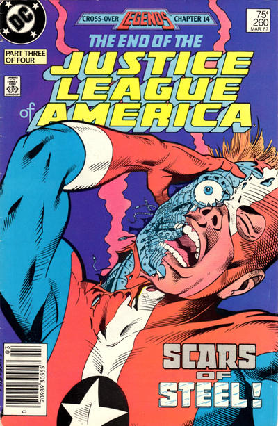 Cover for Justice League of America (DC, 1960 series) #260 [Direct Edition]