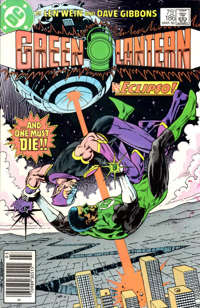 Cover for Green Lantern (DC, 1976 series) #186 [Newsstand]