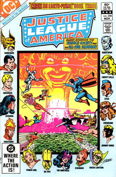 Cover for Justice League of America (DC, 1960 series) #208