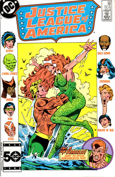 Cover for Justice League of America (DC, 1960 series) #242 [Direct Sales (Comic Book Stores)]