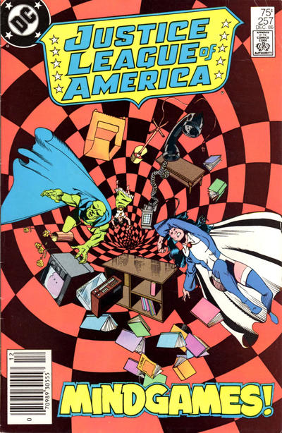 Cover for Justice League of America (DC, 1960 series) #257 [Direct Edition]