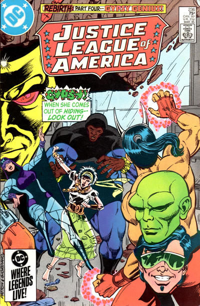 Cover for Justice League of America (DC, 1960 series) #236 [Newsstand Variant]