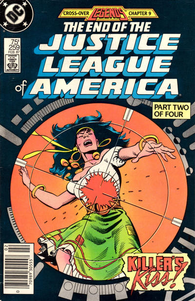 Cover for Justice League of America (DC, 1960 series) #259 [Direct Edition]