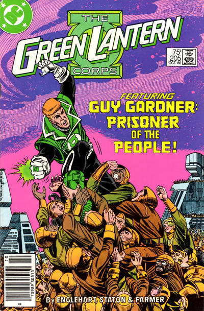 Cover for Green Lantern (DC, 1976 series) #205 [Newsstand Edition]