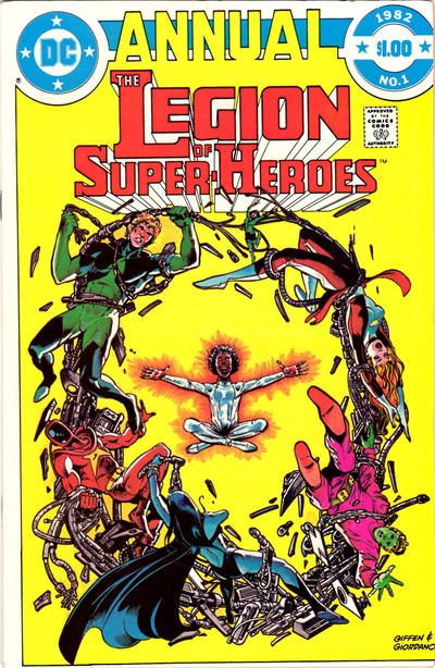 Cover for The Legion of Super-Heroes Annual (DC, 1982 series) #1 [Direct Sales]
