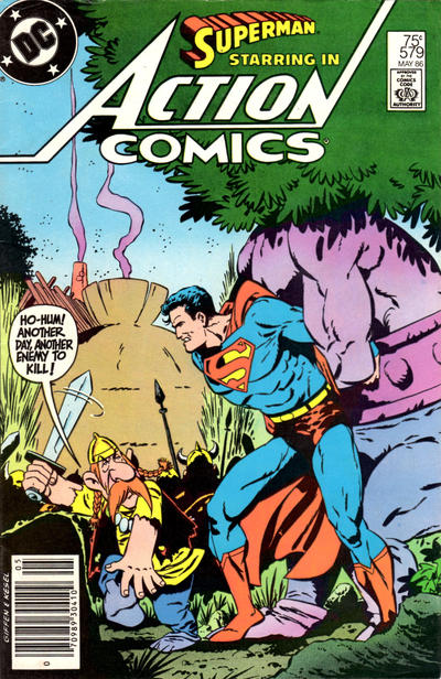 Cover for Action Comics (DC, 1938 series) #579 [Newsstand Edition]