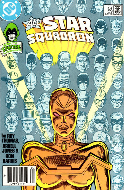 Cover for All-Star Squadron (DC, 1981 series) #59 [Newsstand Edition]