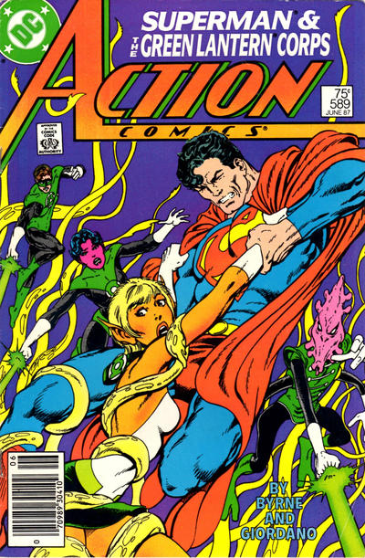 Cover for Action Comics (DC, 1938 series) #589 [Direct]