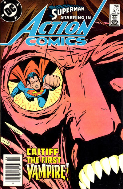 Cover for Action Comics (DC, 1938 series) #577 [Newsstand Edition]