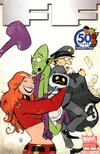 Cover Thumbnail for FF (2011 series) #12 [Fantastic Four 50th Anniversary Variant]