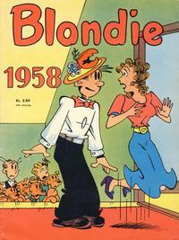 Cover Thumbnail for Blondie (Hjemmet / Egmont, 1941 series) #1958