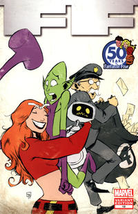 Cover Thumbnail for FF (Marvel, 2011 series) #12 [Fantastic Four 50th Anniversary Variant]