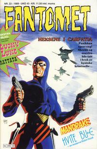 Cover Thumbnail for Fantomet (Semic, 1976 series) #22/1989
