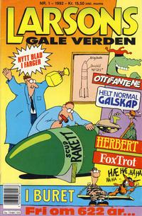 Cover Thumbnail for Larsons gale verden (Bladkompaniet / Schibsted, 1992 series) #1/1992