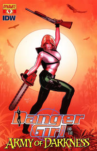 Cover Thumbnail for Danger Girl and the Army of Darkness (Dynamite Entertainment, 2011 series) #4 [Paul Renaud Cover]