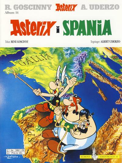 Cover for Asterix (Hjemmet / Egmont, 1969 series) #14 - Asterix i Spania [1. opplag]