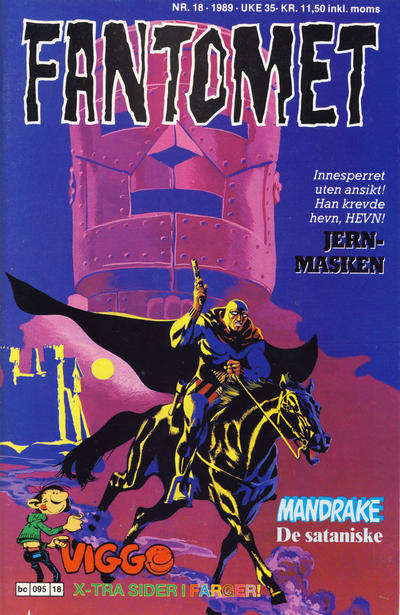 Cover for Fantomet (Semic, 1976 series) #18/1989