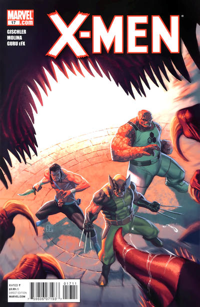 Cover for X-Men (Marvel, 2010 series) #17 [Second Printing Variant by Jorge Molina]