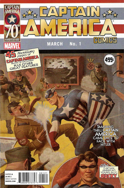 Cover for Captain America Comics #1: 70th Anniversary Special (Marvel, 2011 series) #[nn]