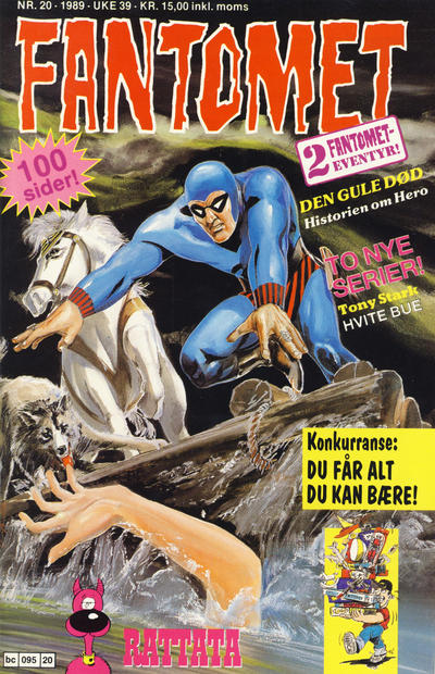 Cover for Fantomet (Semic, 1976 series) #20/1989