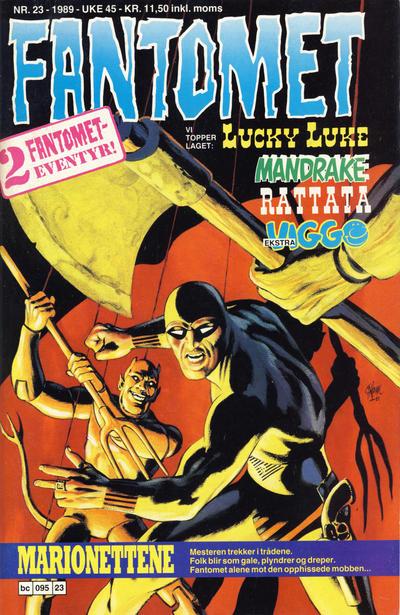 Cover for Fantomet (Semic, 1976 series) #23/1989