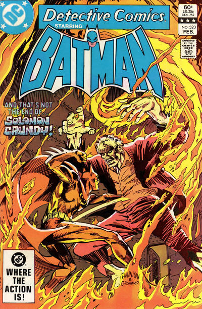 Cover for Detective Comics (DC, 1937 series) #523 [Canadian]