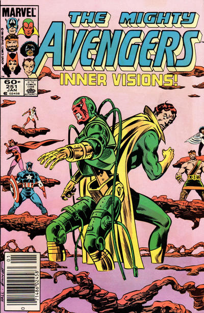 Cover for The Avengers (Marvel, 1963 series) #251 [Direct Edition]