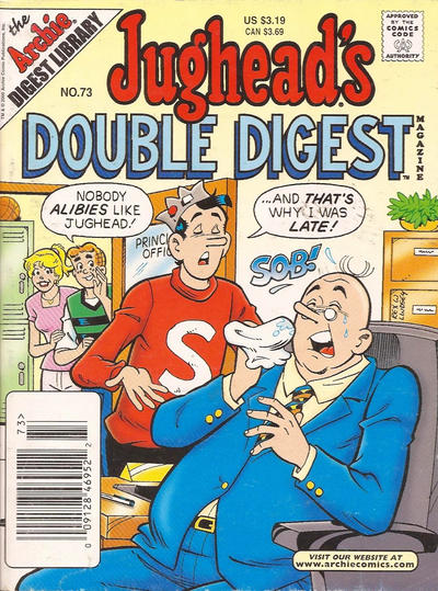Cover for Jughead's Double Digest (Archie, 1989 series) #73