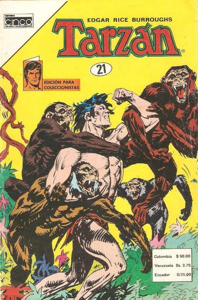 Cover for Tarzan (Editora Cinco, 1983 series) #21