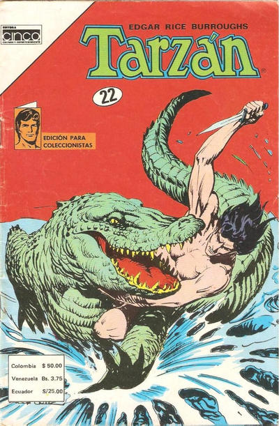 Cover for Tarzan (Editora Cinco, 1983 series) #22